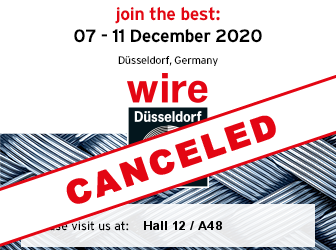 Covid-19:wire & Tube and VALVE WORLD EXPO2020 cancelled