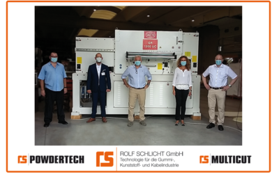 ROLF SCHLICHT GmbH & SAGITTA had build the world's largest band granulator