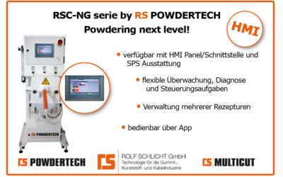 Powdering next level: Die RSC-NG-Serie mit HMI-Schnittstelle